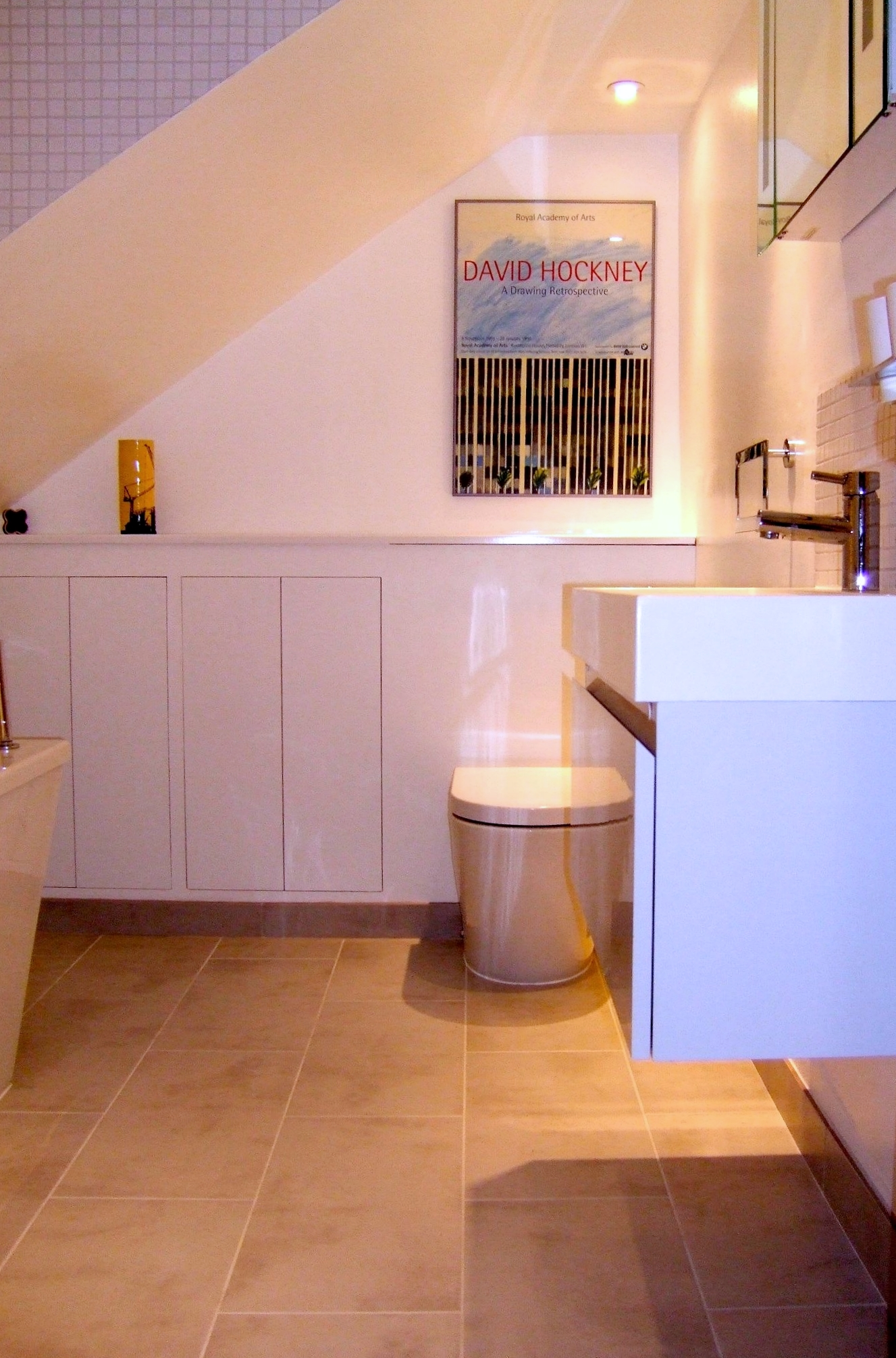 Bespoke Bathroom Wall Cupboards Back To Wall WC And