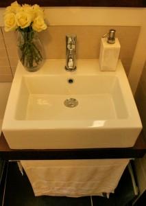 Basin installed