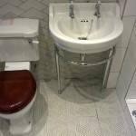 Edwardian round 56cm basin & regal basin stand