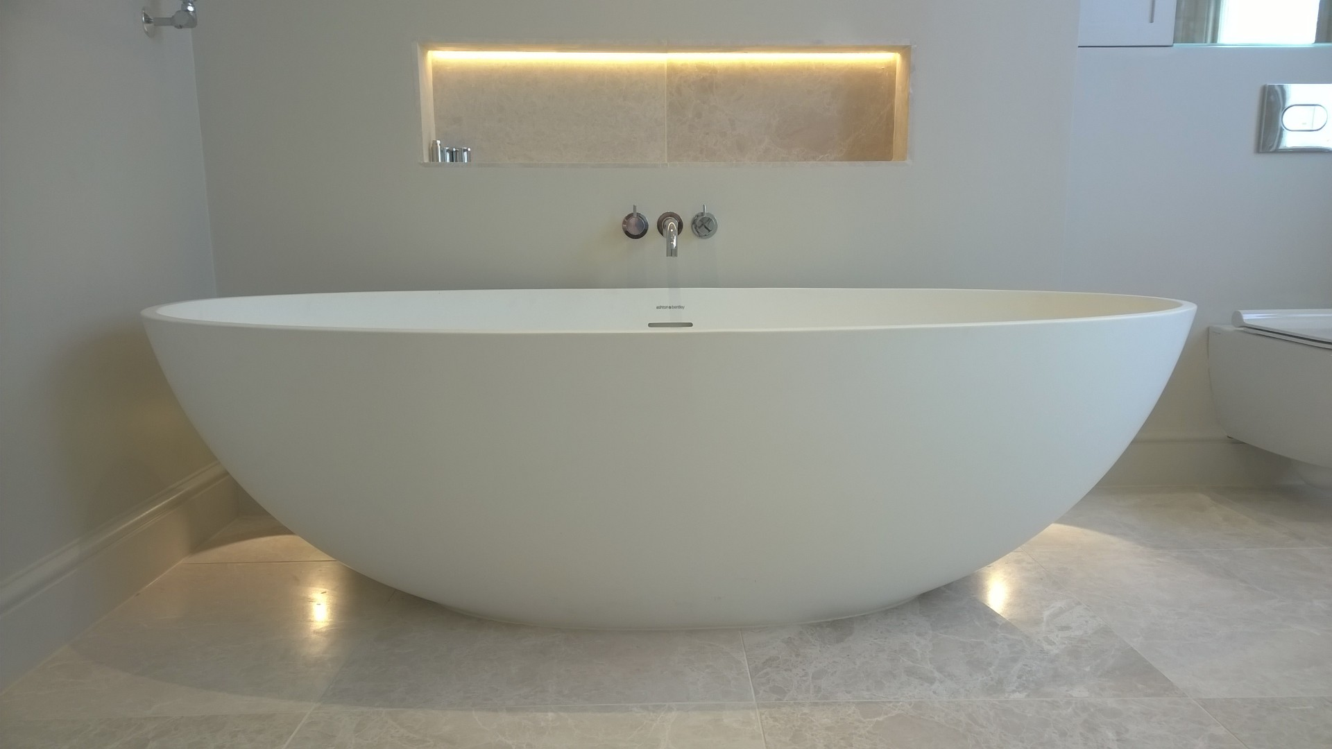 Ashton Bentley Bath With Low Level Lighting Richmond Bathrooms