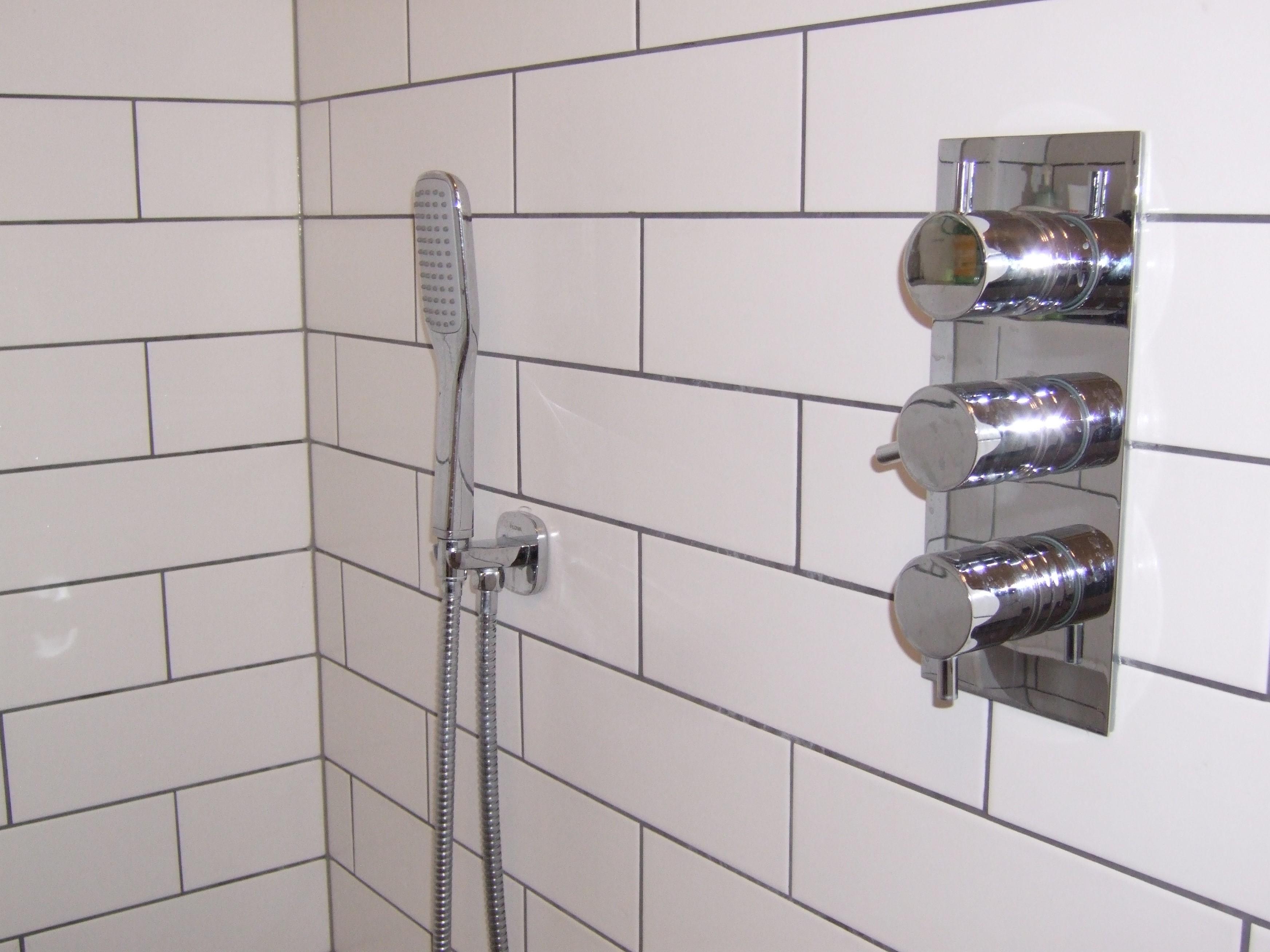 Three Handle Two Way Shower Mixer Valve