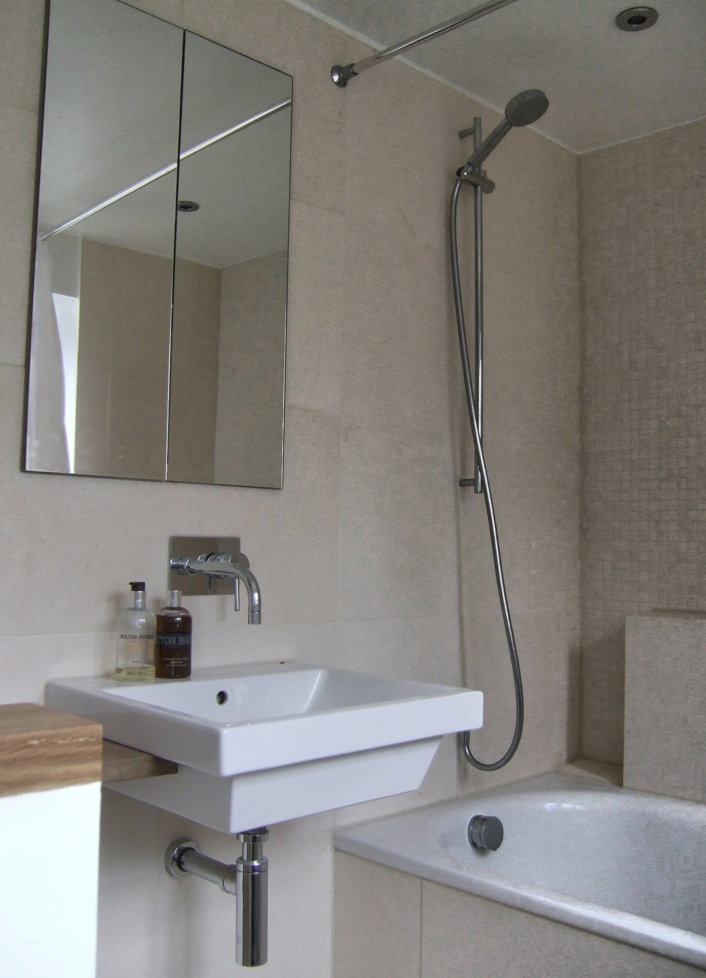 recessed bathroom cabinet uk recessed mirror cabinet and limestone tiling richmond 25107