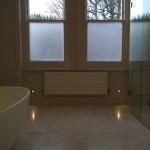 Marble floor tiles in a Chiswick bathroom