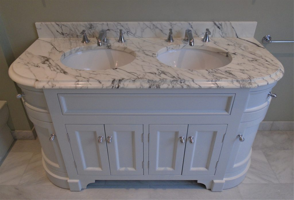 Porter vanity unit with marble top
